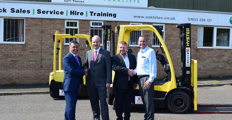 Battery recycling at Envirowales uses Yale forklifts from Briggs