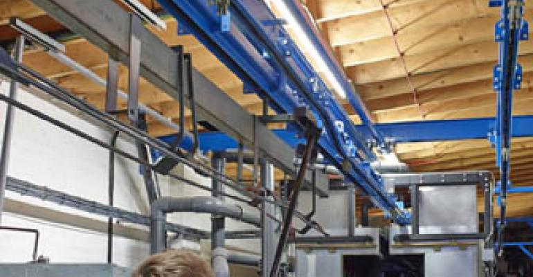 LB Foster's bespoke overhead conveyor doubles production capacity at sign manufacturer