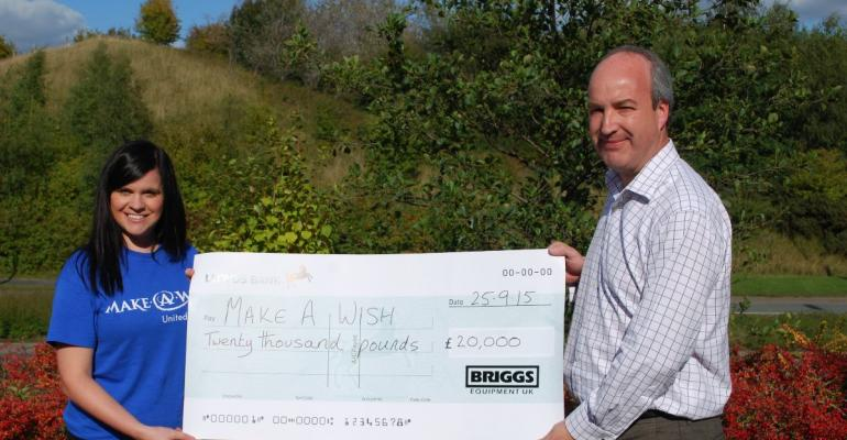 Briggs helps make kids' wishes come true with £20,000