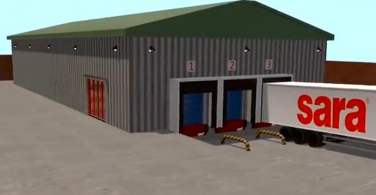 VIDEO: automated warehouse doors